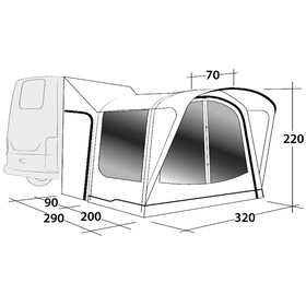 Outwell Parkville 200SA Fortelt Xtra Tall, grey